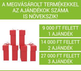 Kilencezer forint feletti vásárlás esetén ajándék.