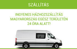Ingyenes szállítás Magyarország egész területén, 24 óra alatt.