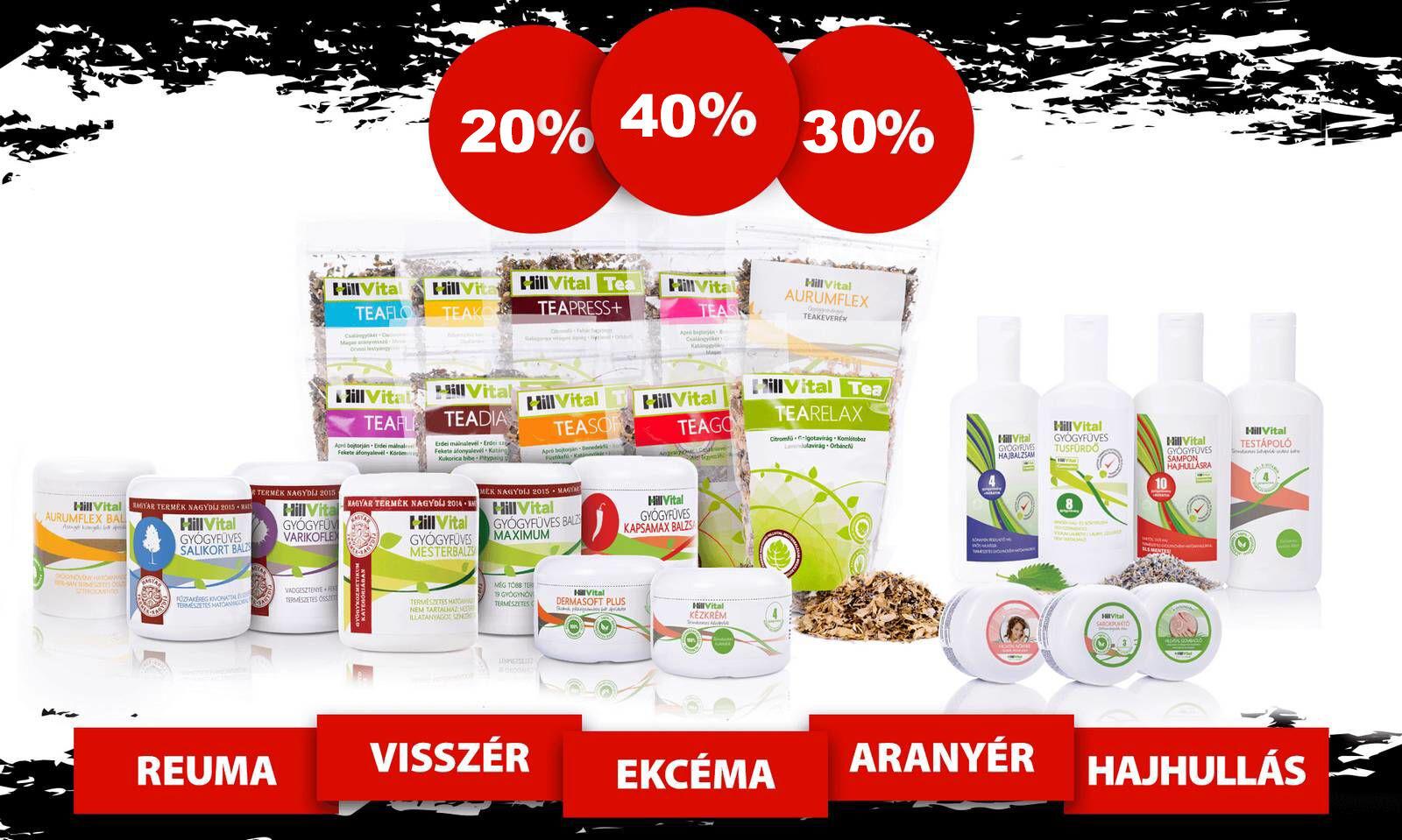 HillVital - Black Friday - Gyógynövényes termékek nagyon olcsón, 24 órán keresztül.