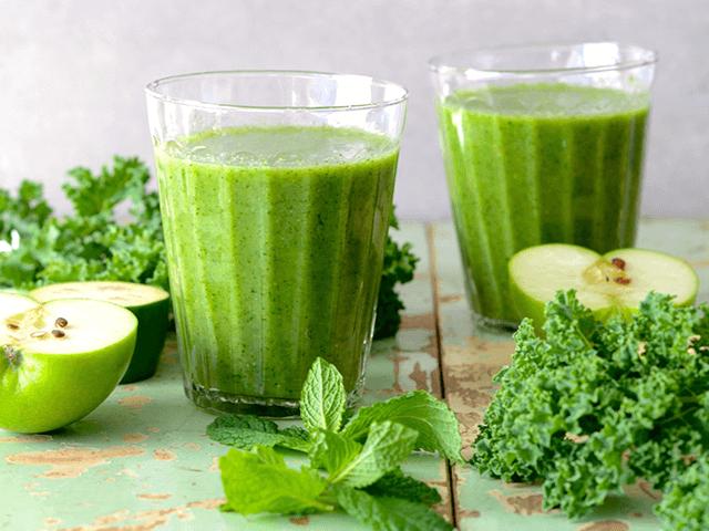 Fodros keles zöld ital
