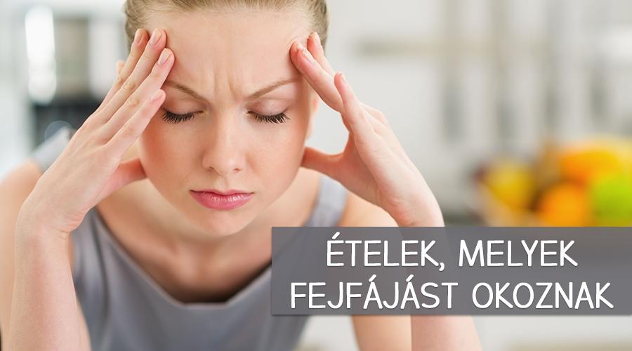 Ételek, melyek migrént okozhatnak.