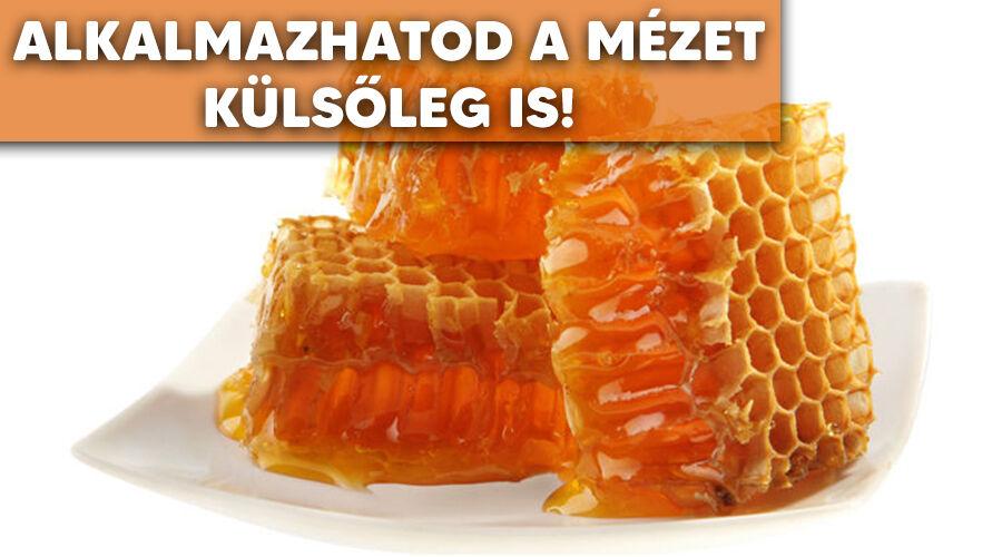 A méz külső alkalmazása