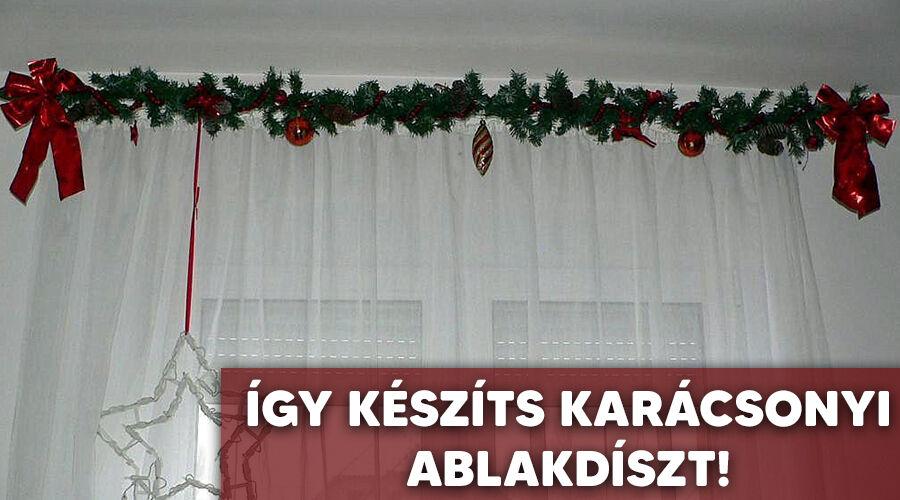Karácsonyi ablakdísz készítése.
