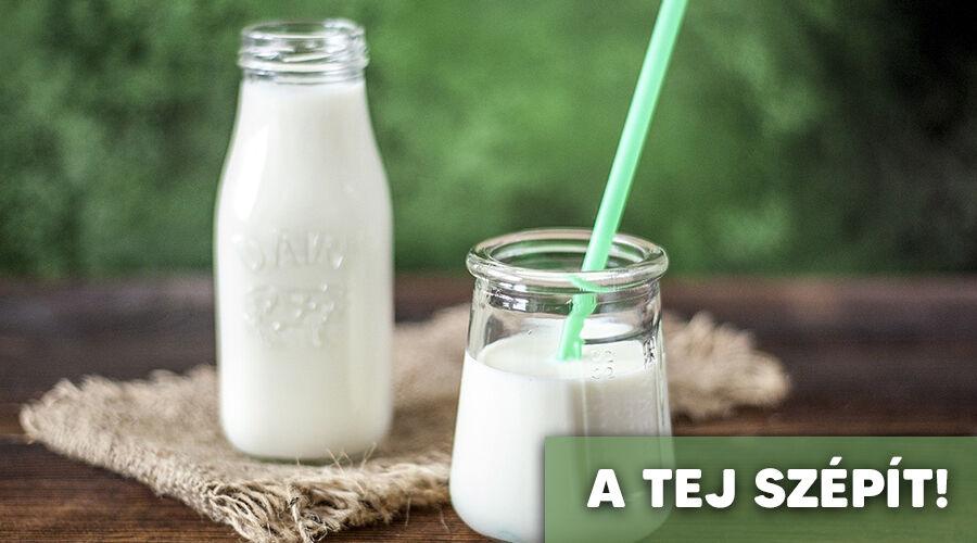 Szépítő hatásai vannak a tejnek.