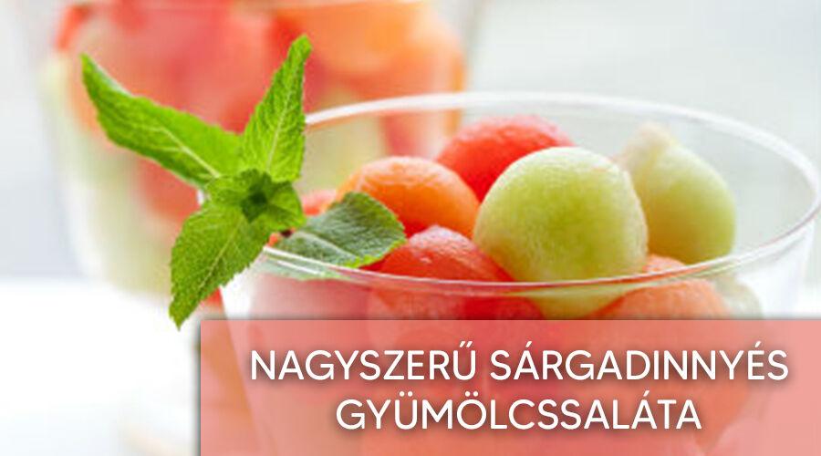 Sárgadinnyés gyümölcssaláta recept