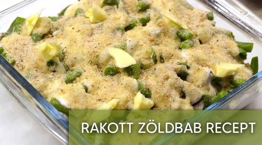 Rakott zöldbab recept.