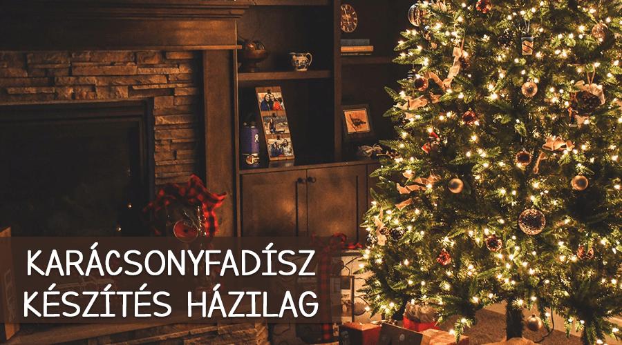 Karácsonyfadísz készítés házilag