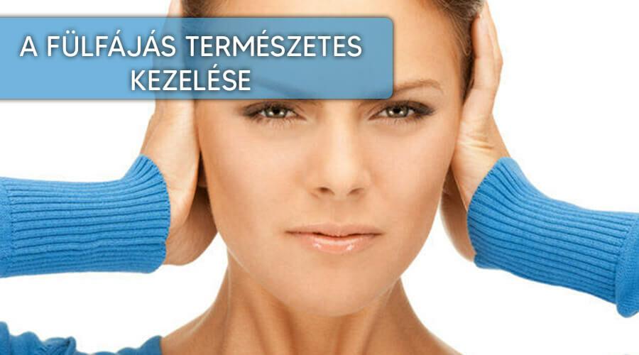 A fülfájás természetes kezelése.