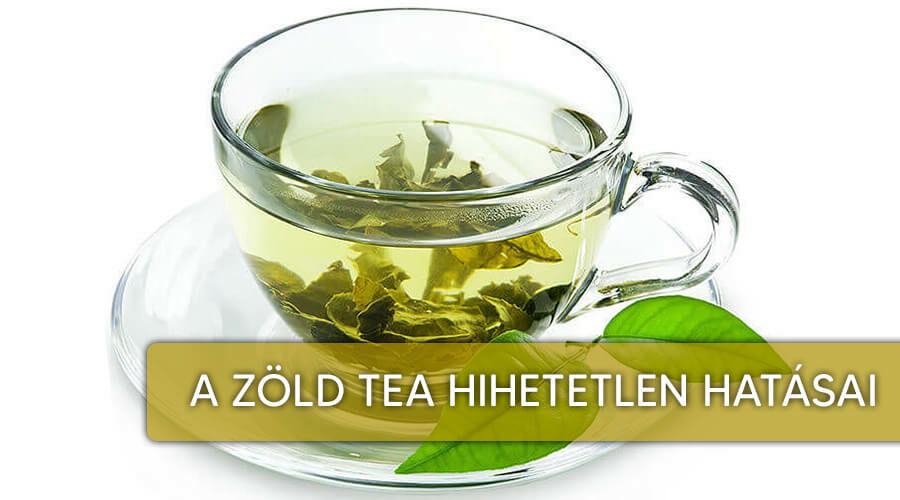 A zöld tea élettani hatásai.