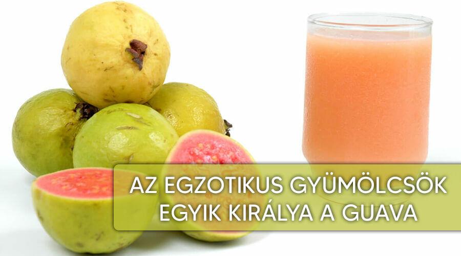 Legjobb egzotikus gyümölcs a guava.