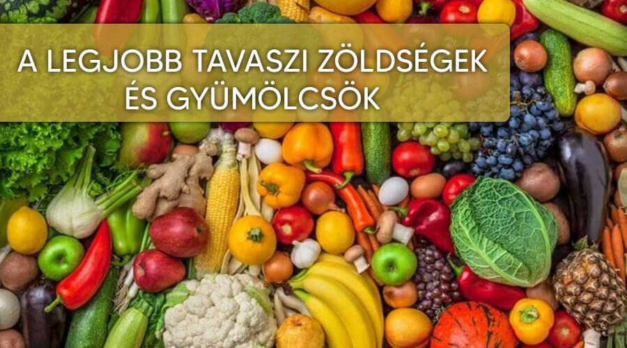 gyümölcsök és zöldségek visszérből