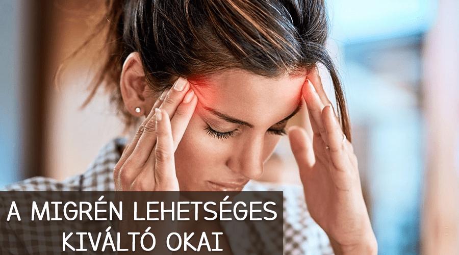 A migrén lehetséges kiváltó okai