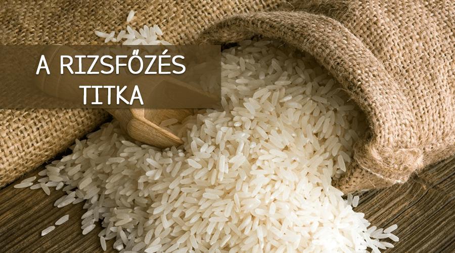 A rizsfőzés titka