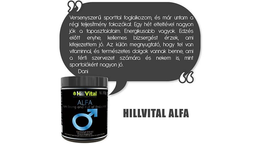 HillVital Alfa vásárlói vélemény.