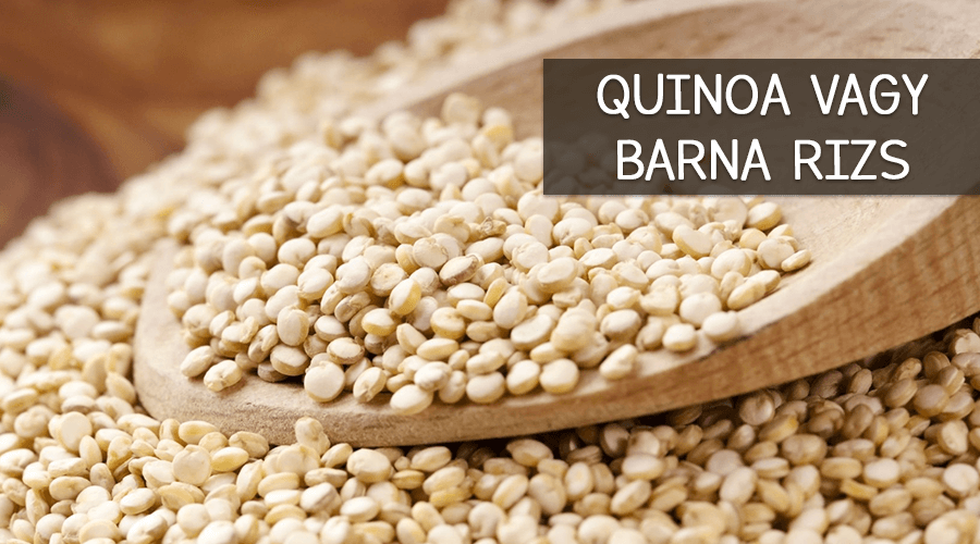Quinoa vagy barna rizs.
