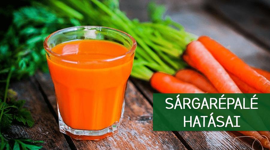 A sárgarépalé hatásai