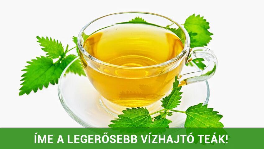A 7 leghatásosabb vízhajtó tea