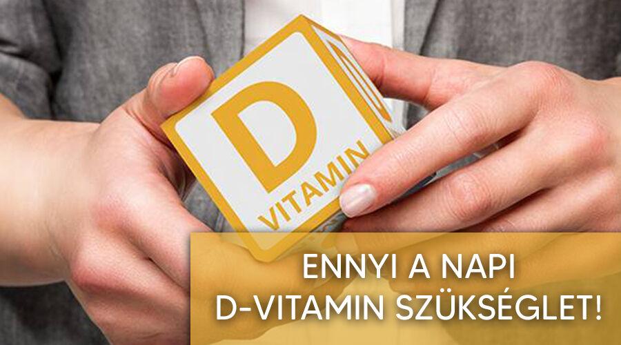 Napi d-vitamin szükséglet.