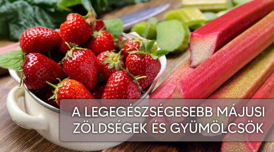 A legegészségesebb májusi zöldségek és gyümülcsök.