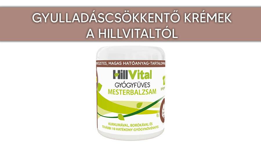 Gyulladáscsökkentő krémek a HillVitaltól