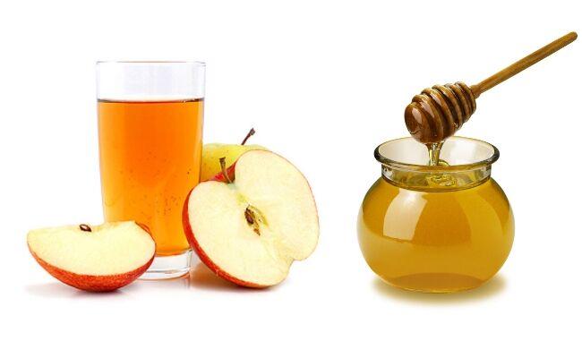 Almaecet és a méz kombinációja