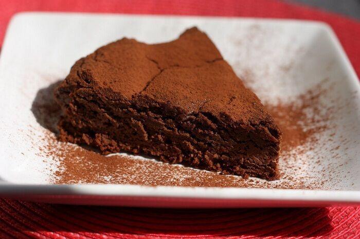Gluténmentes kávés csokitorta