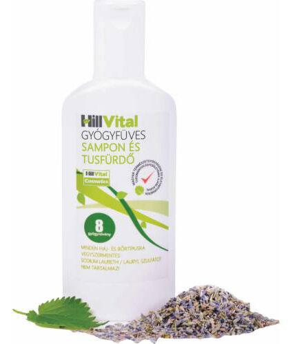 A HillVital Gyógyfüves Tusfürdő 8 gyógynövényt tartalmaz és teljesen vegyszermentes. Biztosítja számodra az egészséges tisztálkodást.