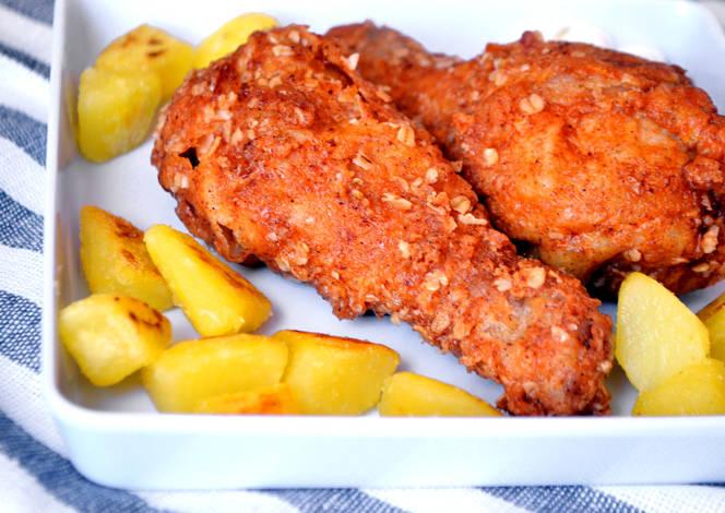 Rántott csirke comb recept