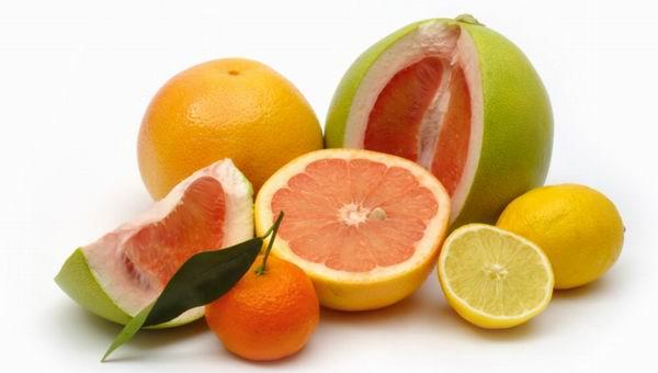 Egészséges citrusfélék.